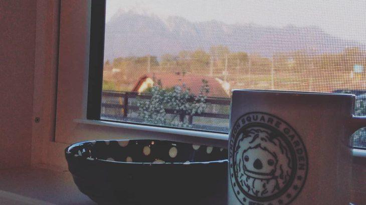 今朝の窓辺カフェ♪